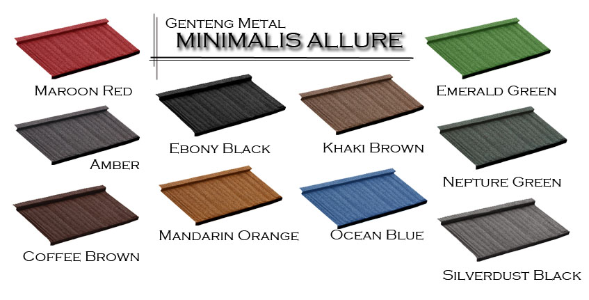 genteng metal minimalis allure color chart